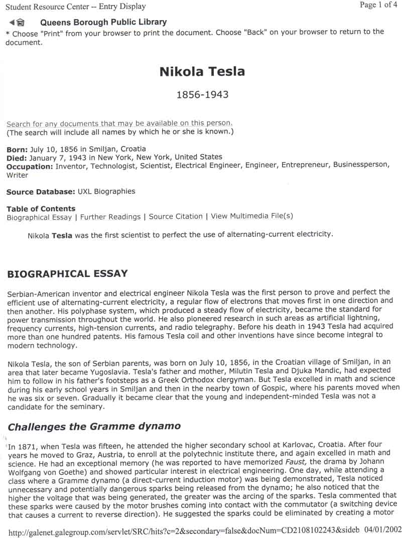 biographical essay nikola tesla biographical essay biographical nikola tesla biographical essay