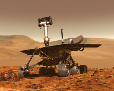 NASA released a 3-D panoramic view of the Spirit rover's ...