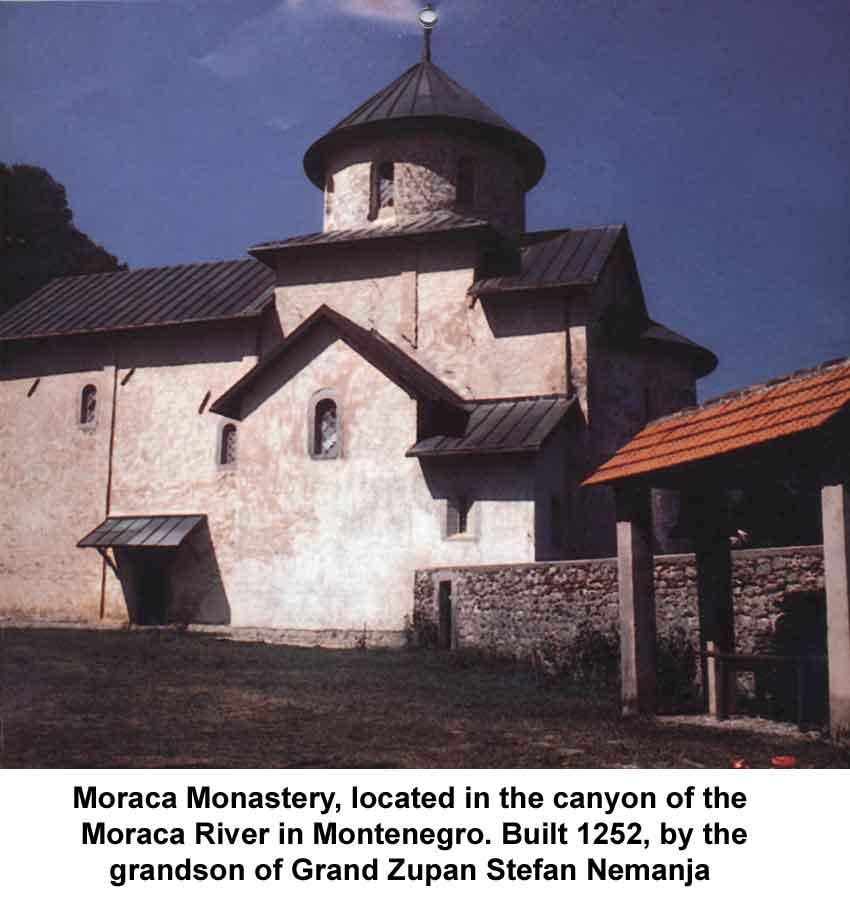 Sopocani kloster in raska oblast serbien erbaut von könig uros