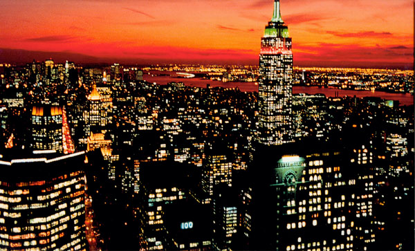 new york city pictures at night. Above: New York City at night,