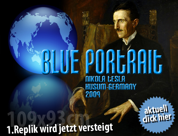 Blue Portrait Tesla Society of Switzerland