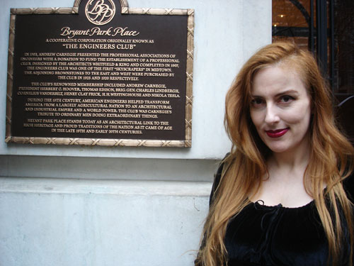Susannah with Plaque