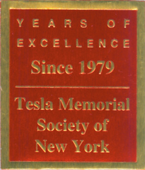 Tesla Memorial Society of New York - 33 Years