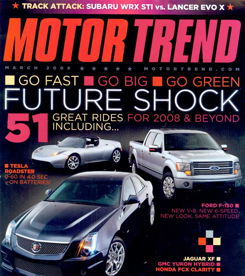 The tesla roadster march 2008 motor trend magazine Motor tread