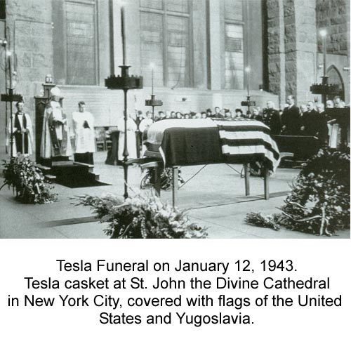 Tesla S Funeral New Video Segment Of Tesla S Funeral In January 12 1943