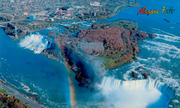 Above Niagara Falls Goat Island Is Located Between The Two Waterfalls American And Canadian Tesla S Other Monument Above Is Located On Goat Island