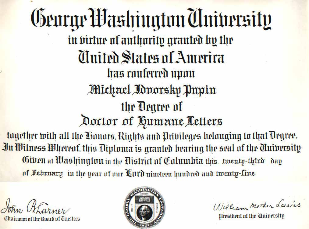 Doctor of Humane Letters