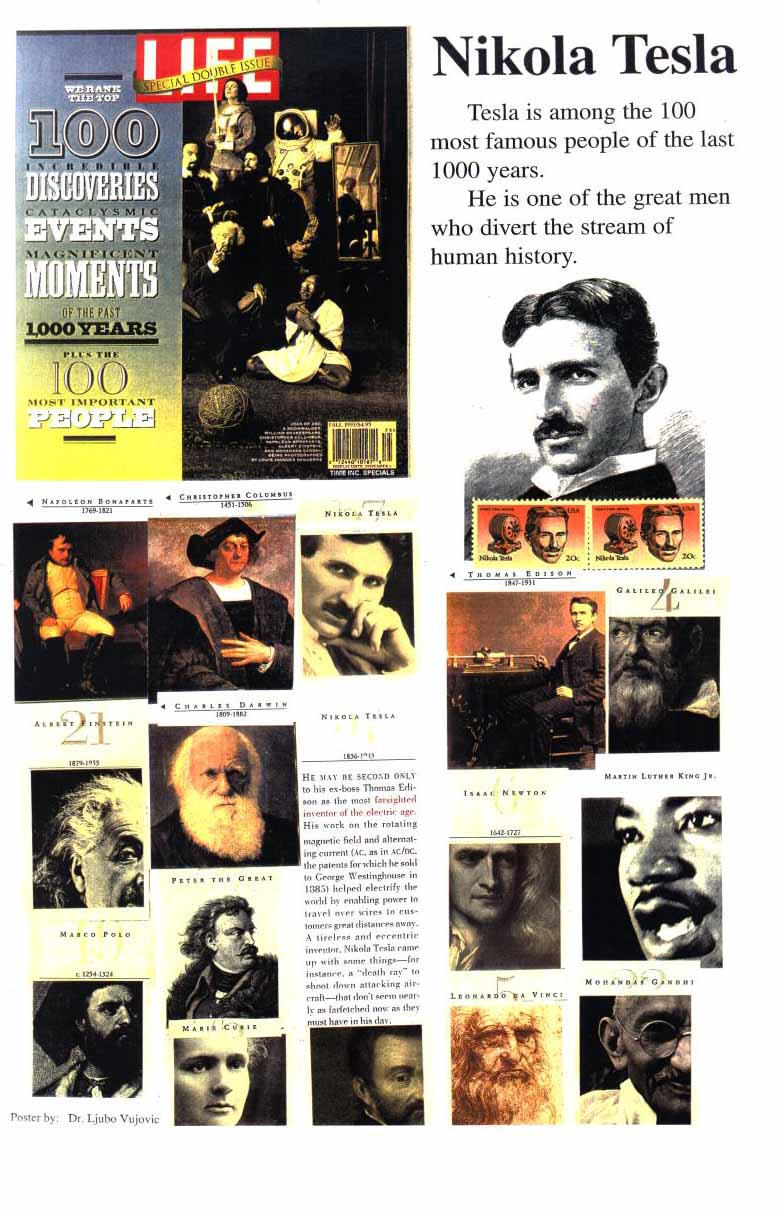 nikola tesla obituaries and posters