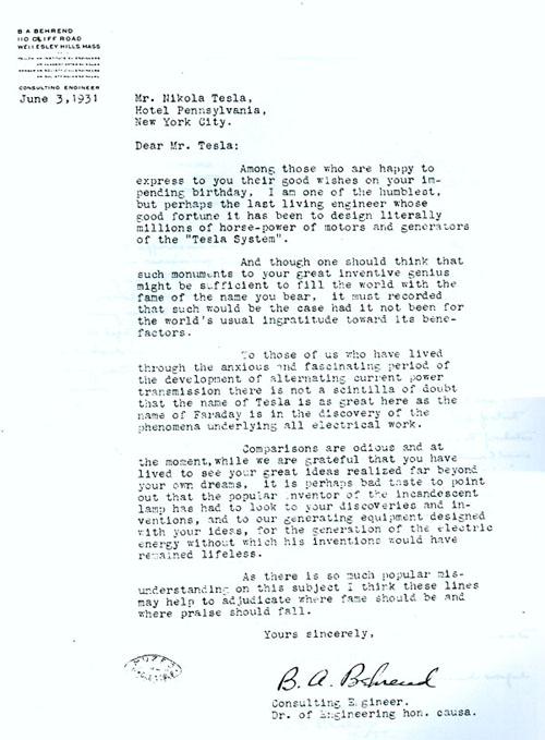 the tesla memorial society of new york website letters to nikola