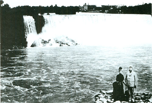 Above George Westinghouse And His Wife At Niagara Falls