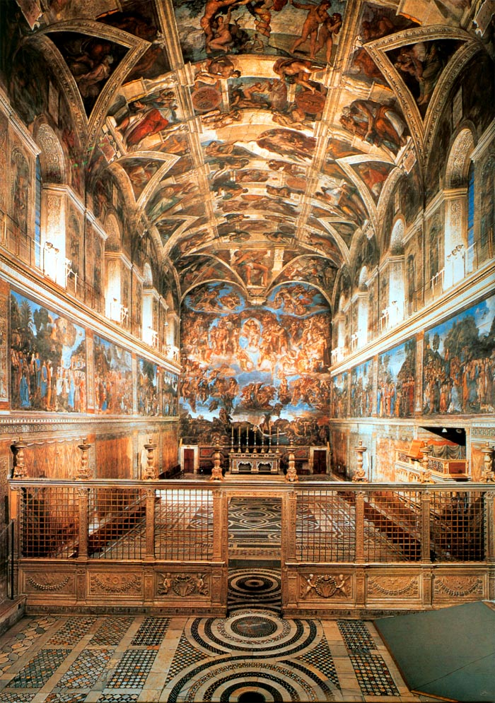 The Famous Masterpieces Of Art Above Sistine Chapel Michelangelo