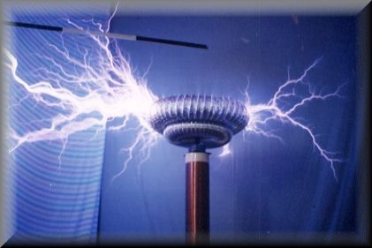 Above Tesla Coil In Action