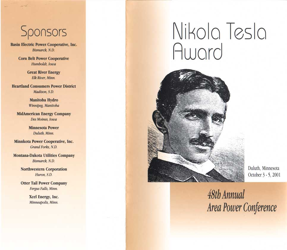 Nikola Tesla Award Presented By The Institute Of